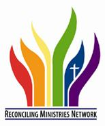 Reconciling Network logo, with rainbow flame